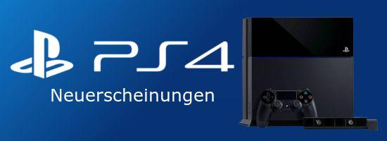 PlayStation 4 PS4 Neuerscheinungen Banner